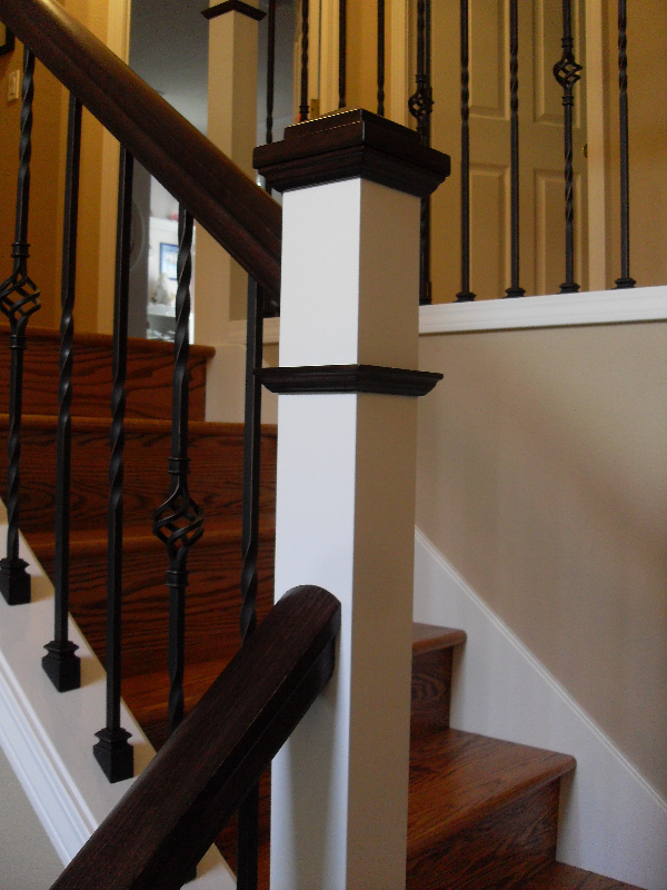 02 Stain & Painted Posts & Treads