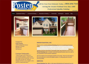 Posten Painting, Inc. is a Residential and Commercial painting company specializing in interior painting, exterior painting, repaints, commercial interior and exterior painting, deck refinishing, door staining, and wood restoration.