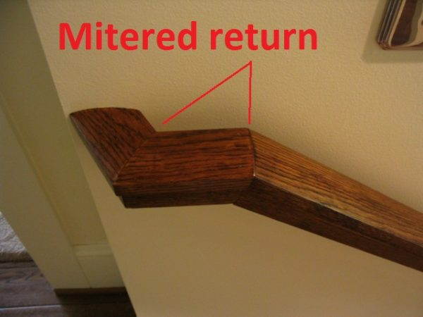 Mitered Return Portland Stair Company
